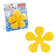 Мини-коврик ЦВЕТОК желтый на присосках для ванной комнаты 1шт