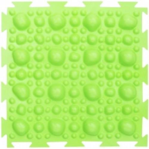 """Орто-коврик """"Камни"""" жесткий салатовый 1шт 25см*25см модульный коврик Орто (ОРТОДОН)"""