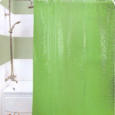 3D 950 А1 Шторы для ванн 180см*180см ГЛГ ЗЕЛЕНЫЕ  Прочные и плотные шторы с голографическим объемным (3D) эффектом. Отверстия под кольца обработаны пластиком, а сам верхний край очень прочный благодаря двойному загибу