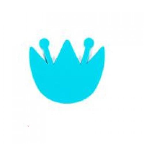 Мини-коврик для ванной комнаты КУВШИНКА голубая (на присосах) 1шт