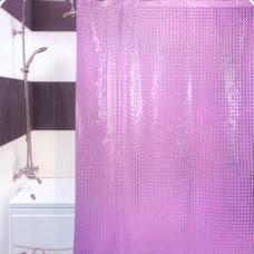 3D 630 S1 Шторы для ванн 180см*180см ГЛГ ФИОЛЕТОВЫЕ Прочные и плотные шторы с голографическим объемным (3D) эффектом. Отверстия под кольца обработаны пластиком, а сам верхний край очень прочный благодаря двойному загибу