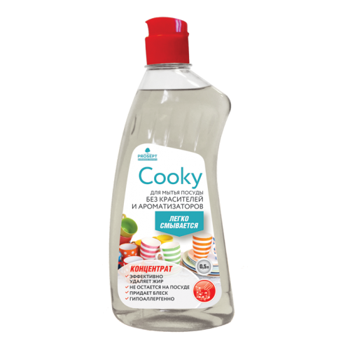 Cooky гель для мытья посуды вручную. Без запаха. Концентрат