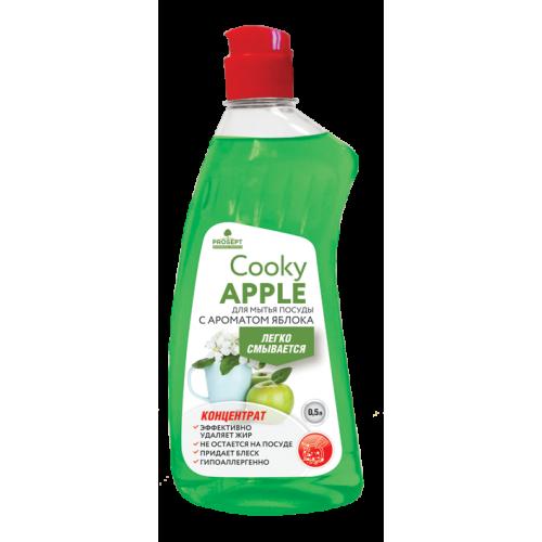 Cooky Apple гель для мытья посуды вручную. С ароматом яблока. Концентрат