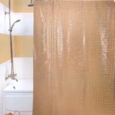 3D 330 A1 Шторы для ванн 180x180см ГЛГ БЕЖЕВЫЕ Прочные и плотные шторы с голографическим объемным (3D) эффектом. Отверстия под кольца обработаны пластиком, а сам верхний край очень прочный благодаря двойному загибу