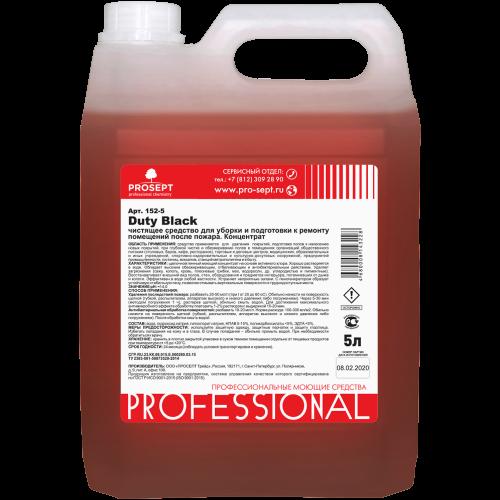 Duty Black 5л Чистящее средство для уборки и подготовки к ремонту помещений после пожара с дезинфицирующим эффектом. Концентрат (на основе активного хлора) PROSEPT