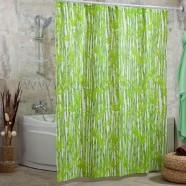 Шторы для ванн MIRANDA BAMBOOS зеленый 200*180см (полиэстер ткань)
