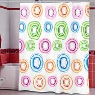 Шторы для ванн MIRANDA COLOROL CIRCLE белый 200*180см (полиэстер ткань)