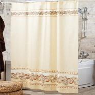 Шторы для ванн MIRANDA LEOPARD бежевый 200*180см (полиэстер ткань)