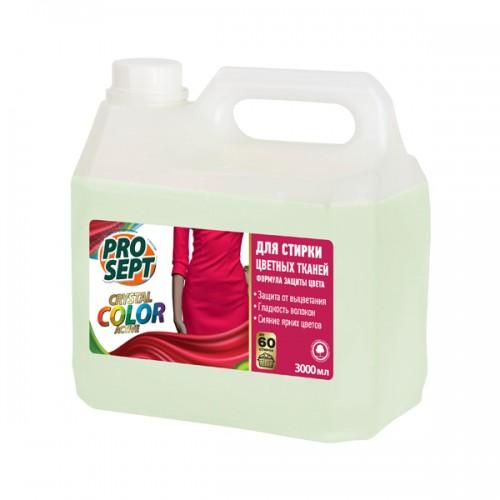 Crystal Color для стирки цветных тканей жидкое моющее средство 3л