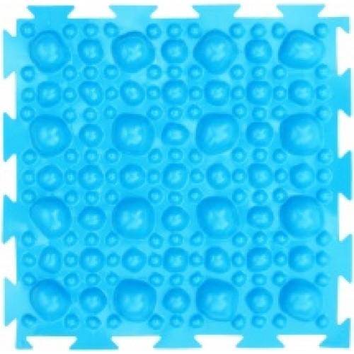 """Орто-коврик """"Камни"""" жесткий голубой 1шт 25см*25см модульный коврик Орто (ОРТОДОН)"""