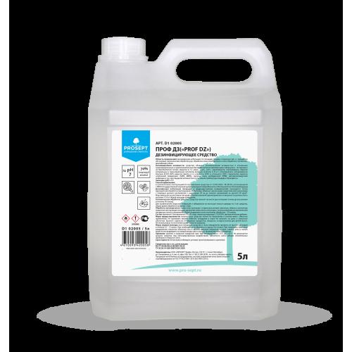 Антисептик PROF-DZ 5л Дезинфицирующее средство на основе изопропилового спирта PROSEPT