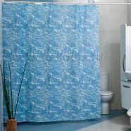 Шторы для ванн MIRANDA MERMER SU голубой 200*180см (полиэстер ткань)