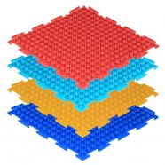 Модульный массажный коврик ОРТО «Шипы», мягкие 4шт