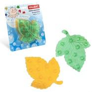 Набор мини-ковриков для ванной комнаты ЛИСТИК зеленый+желтый комплект для ванной комнаты на присосках набор 6шт