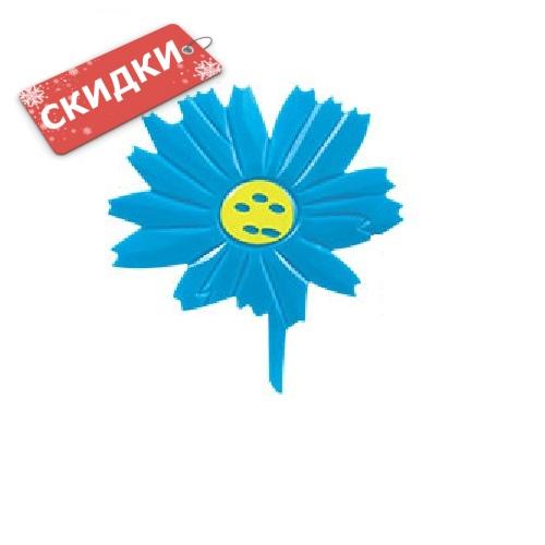 Мини-коврик ЦВЕТОЧЕК голубой на присосах 1шт