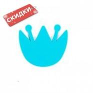 Миниковрик КУВШИНКА голубая на присосах 1шт