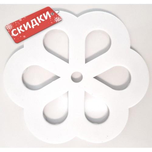 Мини-коврик СНЕЖИНКА белая на присосках для ванной комнаты 1шт
