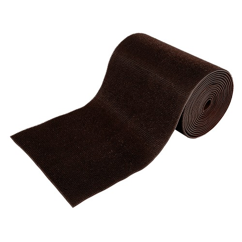 Коврик-дорожка 0,90*15м ТРАВКА на противоскользящей основе, темно-коричневый