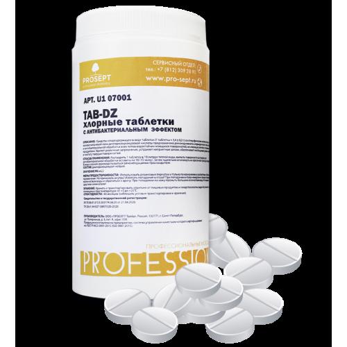 TAB-DZ хлорные таблетки с антибактериальным эффектом, 1 кг арт.U1 07001
