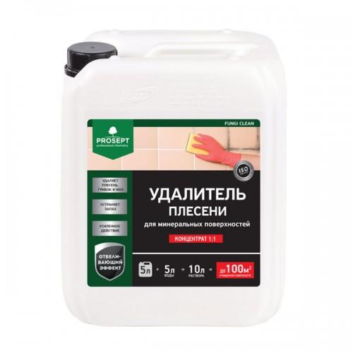 Удалитель плесени. Концентрат PROSEPT FUNGI CLEAN 5л (Средство для удаления плесени, грибка, мха, водорослей, слизистых, мыльных и других глубоко въевшихся загрязнений с минеральных поверхностей)