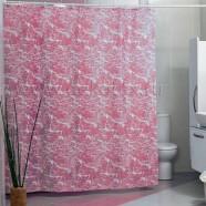 Шторы для ванн MIRANDA MERMER SU розовый 200*180см (полиэстер ткань)