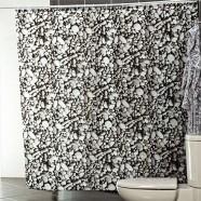 Шторы для ванн MIRANDA ROCKS цвет черный  (ткань полиэстер)
