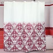 Шторы для ванн MIRANDA ALINA красный 200*180см (полиэстер ткань)