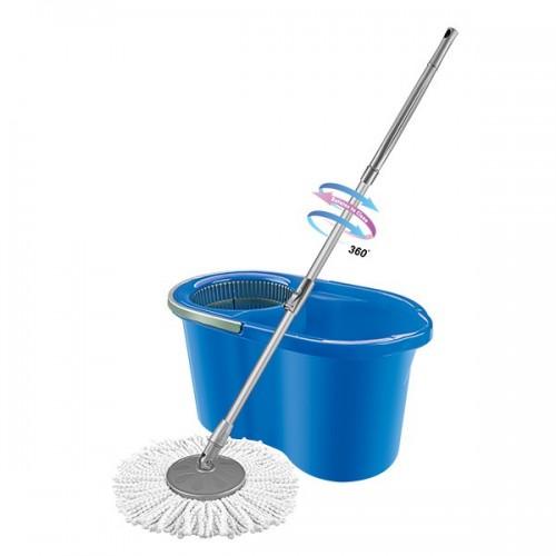 MOP STYLE Набор для уборки в индивидуальной упаковке 16л голубой (ведро 16л + швабра)