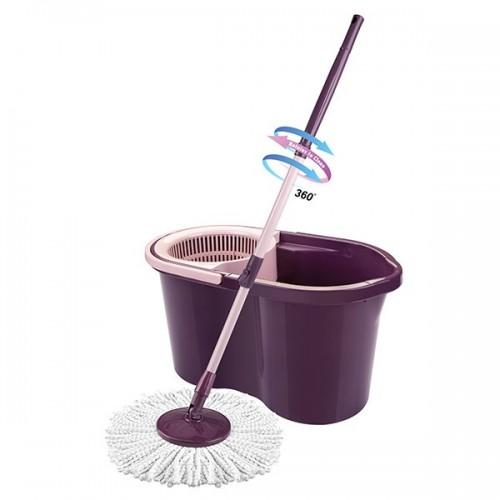 MOP STYLE Набор для уборки 14л фиолетовый арт.712 (ведро 14л + швабра) в индивидуальной упаковке