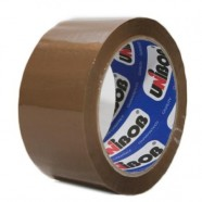 Клейкая лента UNIBOB 48мм*132м темная 40мкн  в индивидуальной упаковке