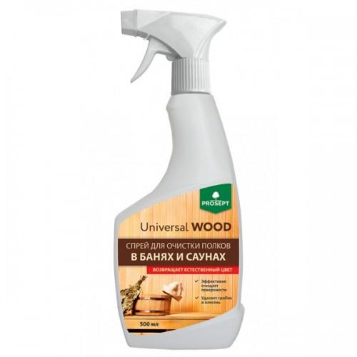 Universal Wood Спрей для очистки полков в банях и саунах с активным хлором 0,5л